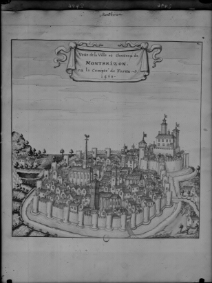 2496 Montbrison vue d'après l'armorial de Guillaume Revel Cabinet d'estampes